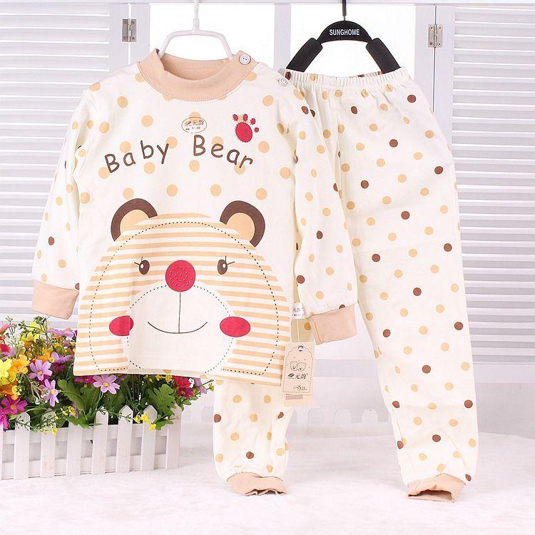 2015 New Infant Girl Clothes Boys Girls Sleep Coats Set Baby Cute Pajamas Suit