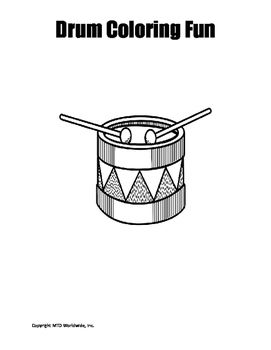 Drum Coloring Page Coloring Pages Color Drums