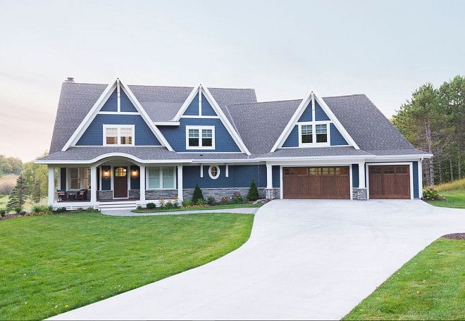 Lovely Blue Home Exterior. Blue Home Exterior. Blue Home Exterior Paint Color  Ideas. Blue Home Exterior Paint Color Suggestions Mark D. Williams Custom  Homes Inc.
