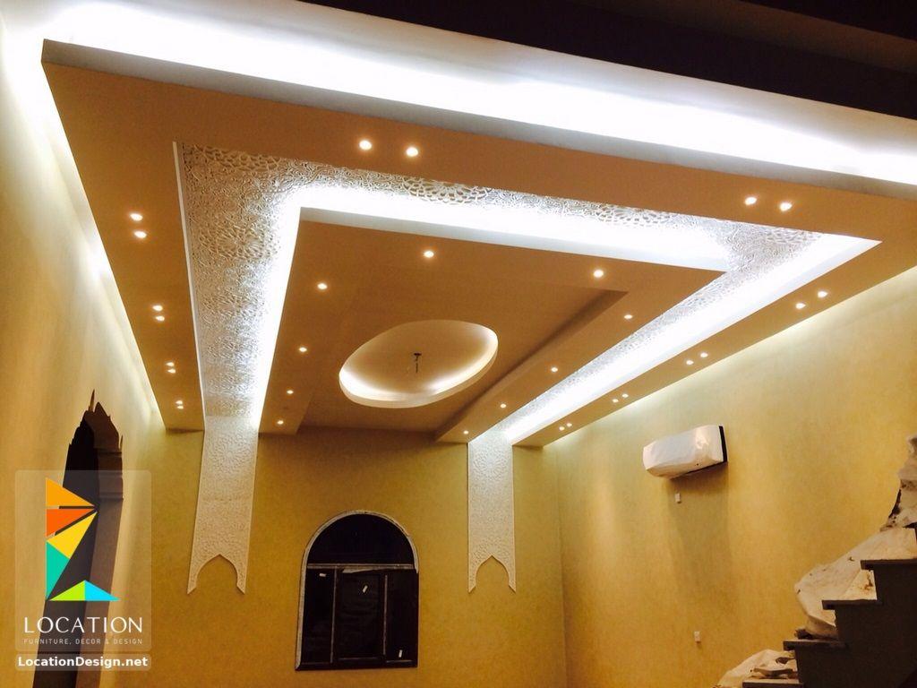 احدث افكار ديكور جبس اسقف الصالات و الريسبشن 2017 2018 Ceiling Design Lighted Bathroom Mirror Bathroom Mirror
