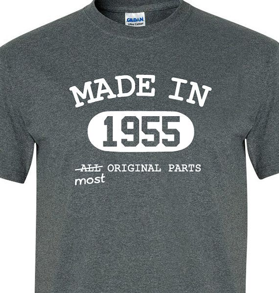 60th Birthday Gift For Men Women Made In 1955 Most Original Parts T Shirt Funny Custom Personalized Present Turning 60