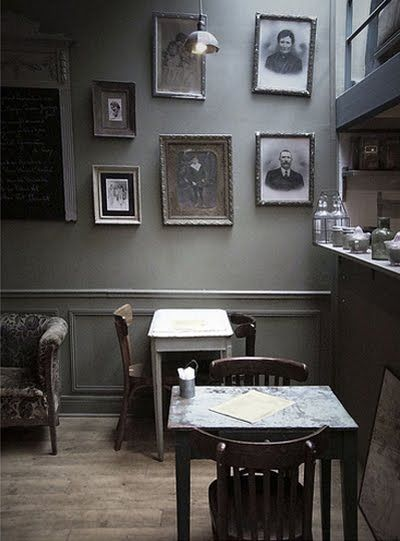 vintage lifestyle cafe wallcoffee shopsgray