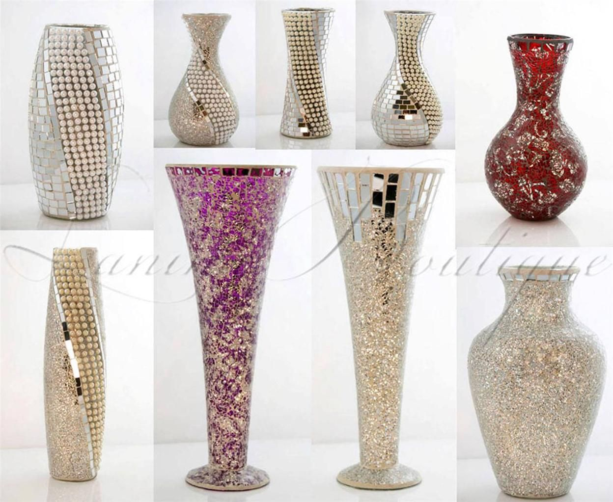 Mosaic glass bottles vases google search mosaic art decor tall 40 silver glass mosaic mirror vase bullet shape with pearls new reviewsmspy