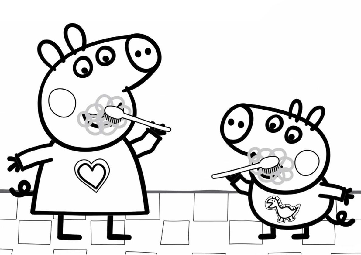 Peppa Pig Coloring Pages A4 - Peppa