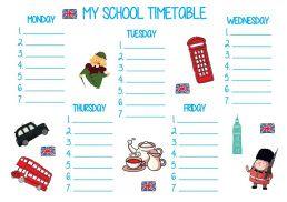 Plan leckcji school timetable