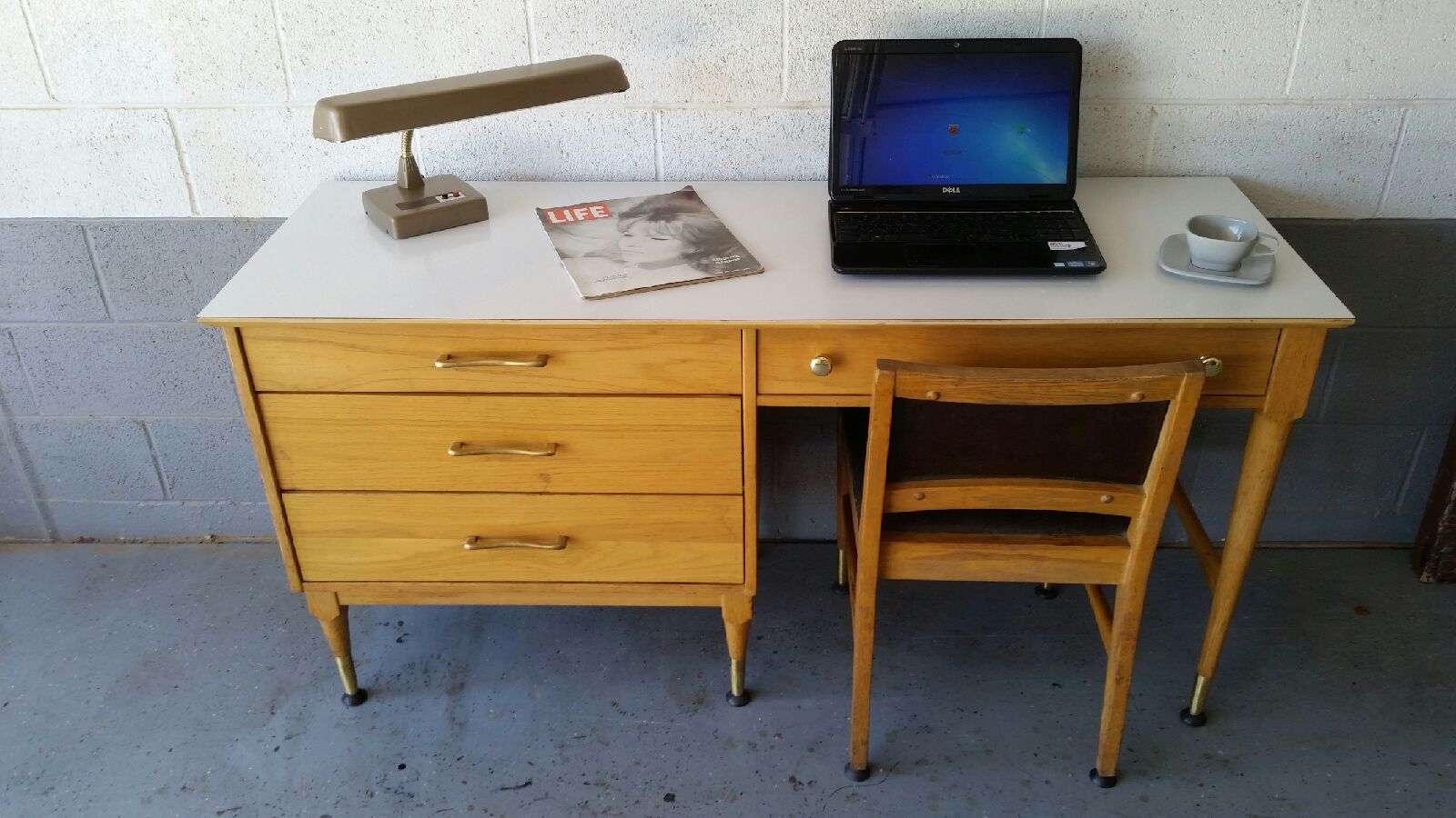 Attractive Desk With Original Chair Circa From Franciscan Furniture Of Albuquerque,  New Mexico. Available On Phoenix Craigslist.