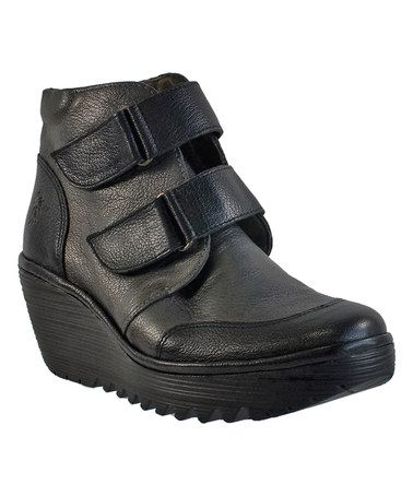 499361533d0 Black   Graphite Mousse   Borgogna Yugo Leather Ankle Boot  zulilyfinds