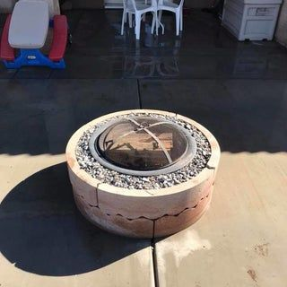 Photo of $50 Fire Pit Using Concrete Tree Rings