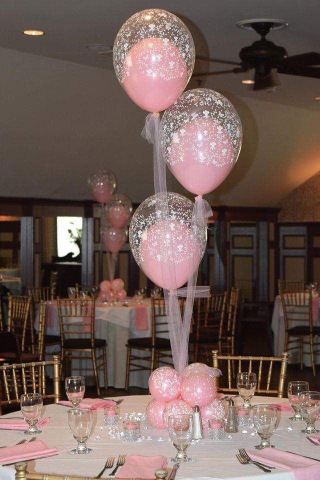 Baby Shower Christening Balloon Centerpieces Flowers