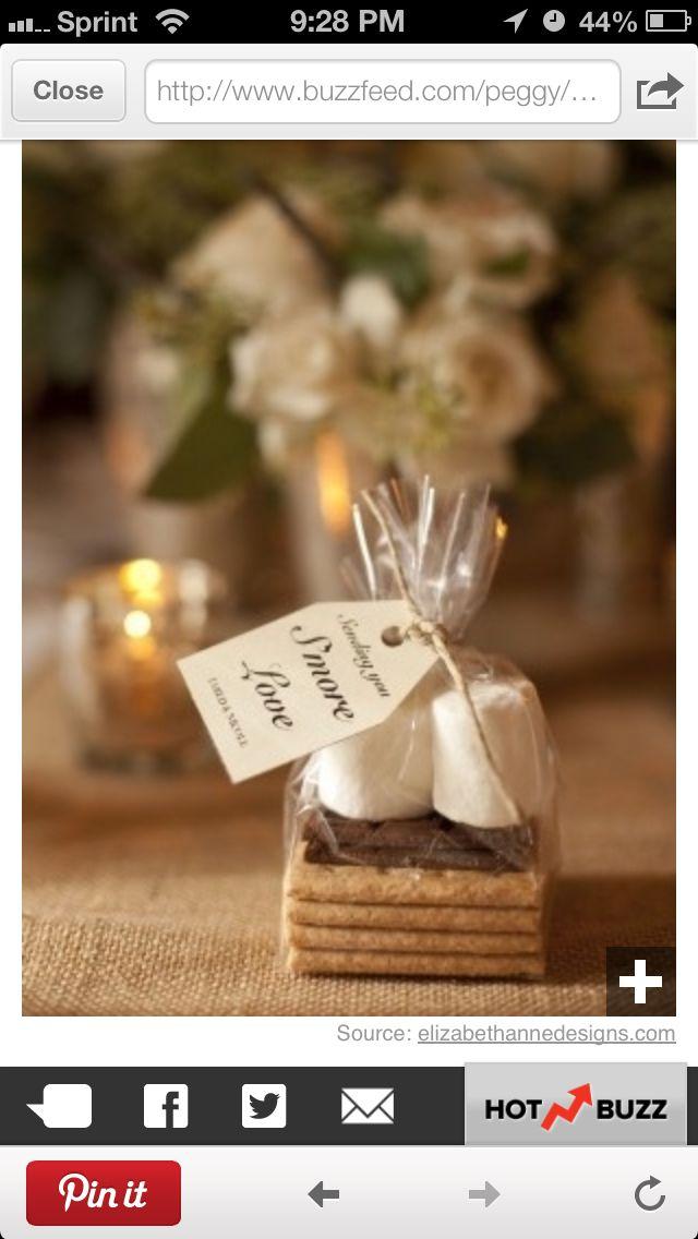 Smores Wedding Favors Wedding Cakes Pinterest Favours