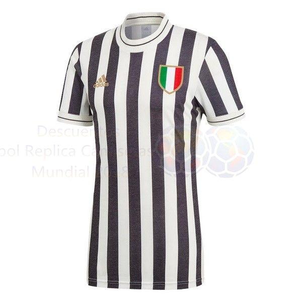 Venta Camisetas Edición Conmemorativa Camiseta Juventus 2018 2019 Blanco  Negro cb911229b94c9