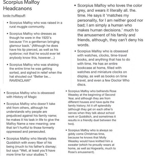 Scorpius Malfoy HeadCanon My Horcurx Pinterest Scorpius - harry potter resume