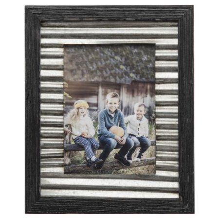 Prinz Galvanized Corrugated Picture Frame Walmart Com Wood Photo Frame Metal Picture Frames Corrugated Metal
