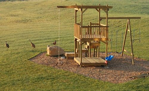 How to build a backyard play structure fort how did i for Homemade forts outdoors