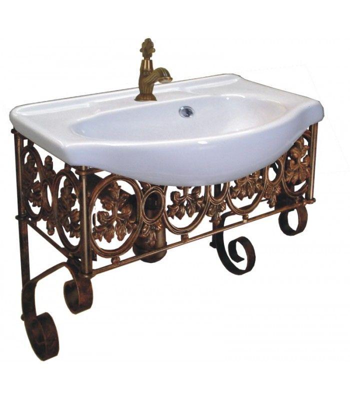 Meubles de salle de bains en fer forge MCG0147 - meuble salle de bain fer forge