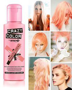 Crazy Color Peachy Coral Coral Hair Orange Hair Hair Color