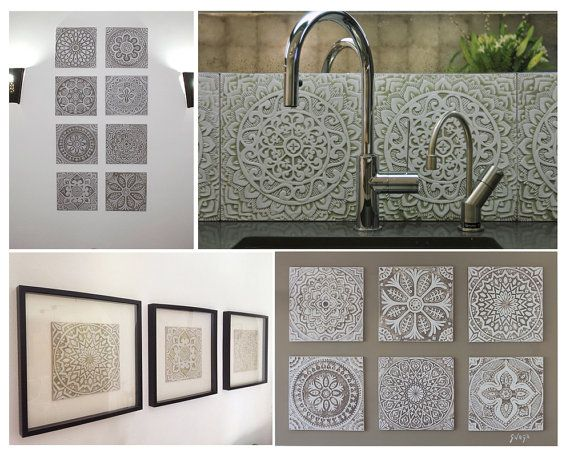 Decorative Outdoor Wall Tiles Gorgeous Httpswwwetsylisting224712693Decorativetilesceramic Inspiration Design
