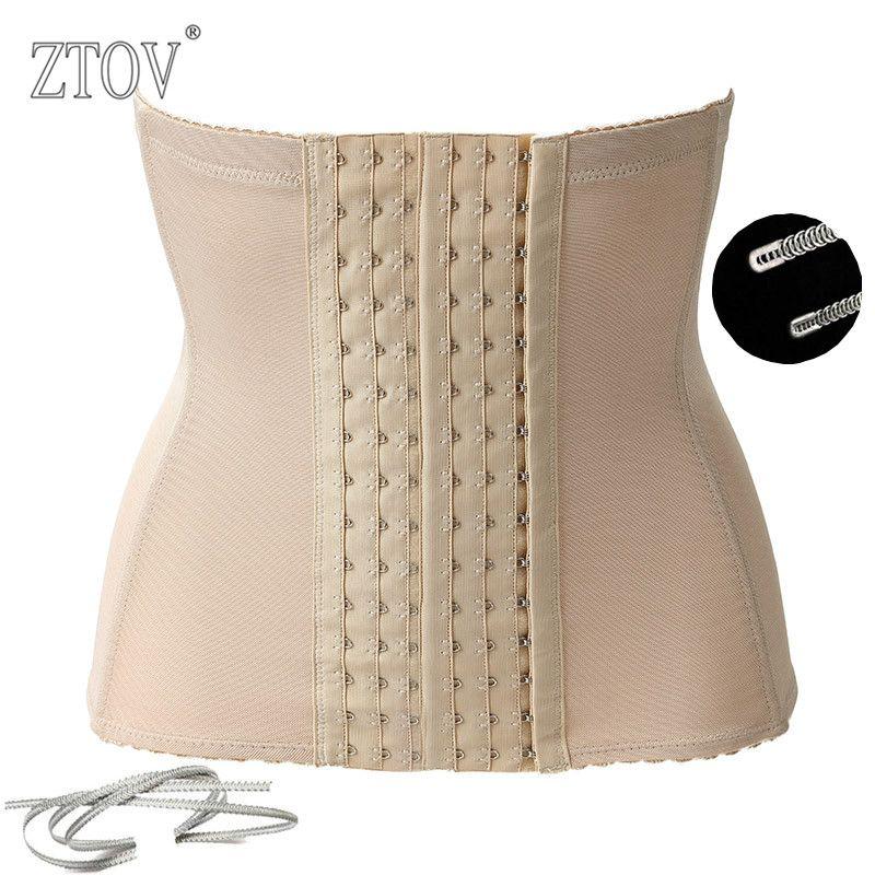 Ztov plus size donne mezzo di formazione corsetti e bustini nero donne della cinghia di maternità dopo il parto dimagrisce corsetto body shaper