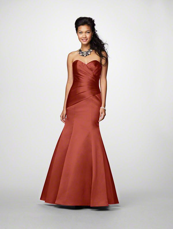Alfred Angelo Bridesmaid Dresses - Style 7168 - Burnt Orange ...