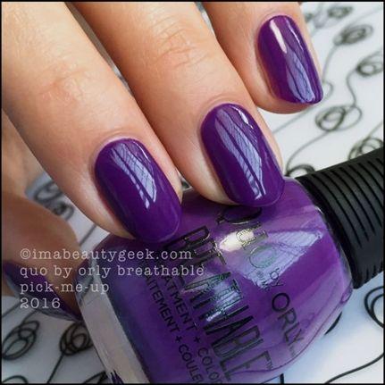 Orly Breathable Nail Polish By Quo Swatches And Review Beautygeeks Gelnailpolish Nail Polish Trendy Nails Gel Nail Designs