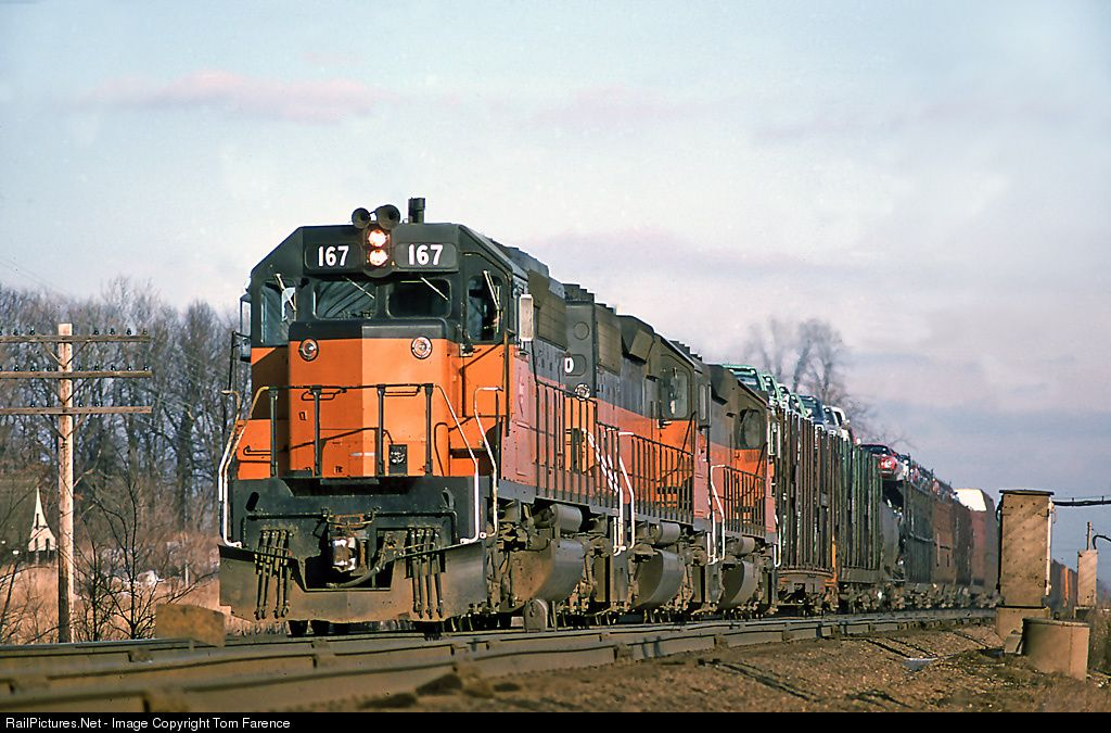 RailPictures.Net Photo: MILW 167 Chicago, Milwaukee, St. Paul & Pacific EMD SD40-2 at Duplainville, Wisconsin by Tom Farence