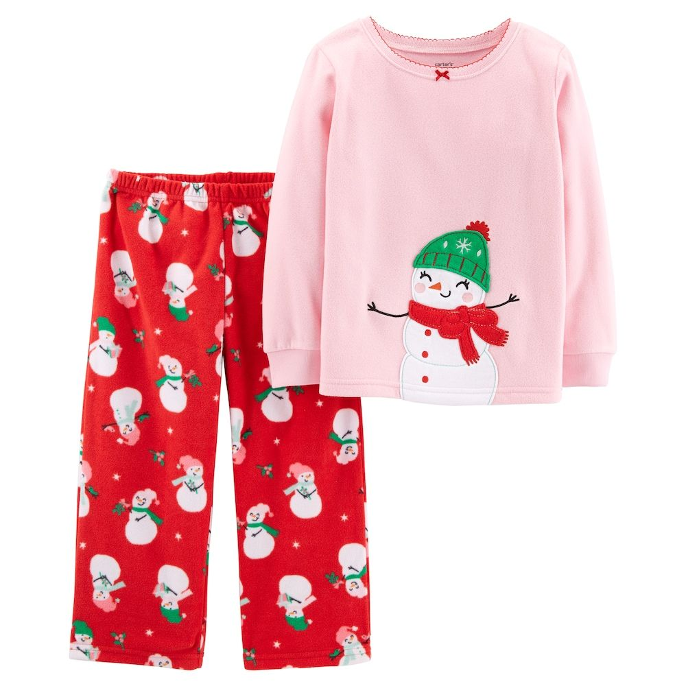 325c1be04 Carter s Toddler Girl Christmas Top   Microfleece Bottoms Pajama Set ...