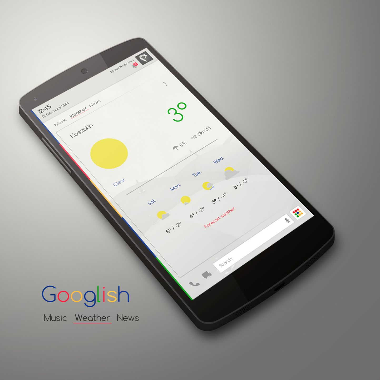 Googlish Android Homescreen by peszek - MyColorscreen | [Design ...
