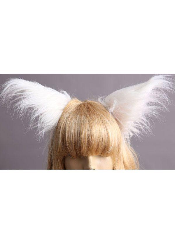 Prendendor de Lolita de orelha de raposa branca - Lolitashow.com