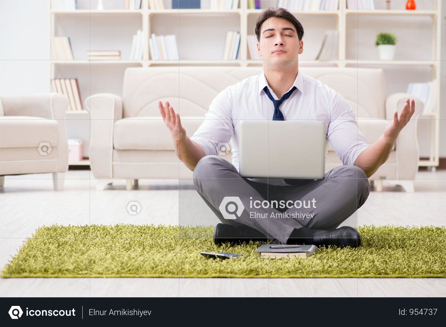 Premium Businessman Sitting On The Floor In Office Photo Download In Png Jpg Format Business Man Flooring Photo