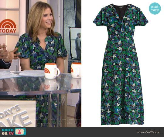 131ae31e833ac1 Josee floral-print silk midi dress by Saloni worn by Jenna Bush Hager on  Today
