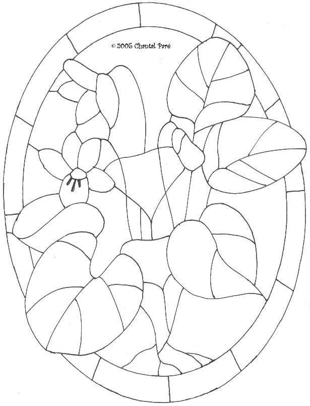Violet bunch pattern | PATRONES E IDEAS | Pinterest | Vidrieras ...