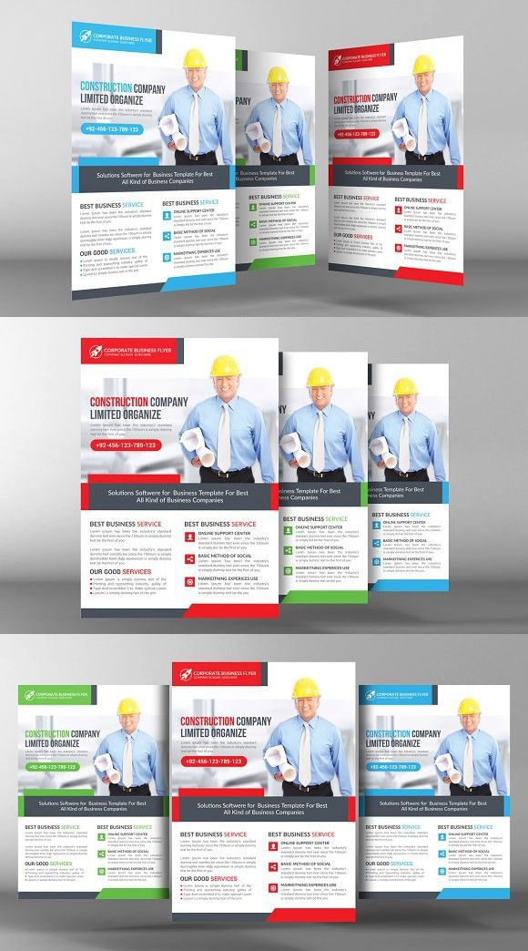 Construction Flyer Flyer Template Business Flyers And Business