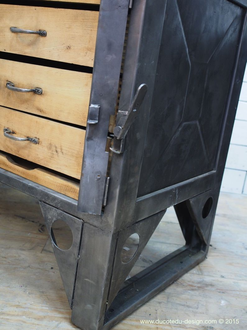 Grand Etabli Industriel Bureau Metal Et Bois Art Of Welding