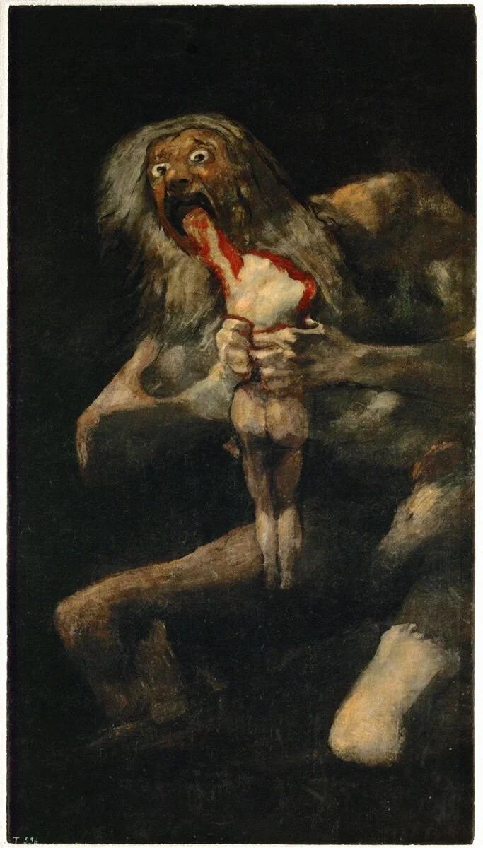 Devoration Giclee Canvas Print Francisco de Goya  Saturn Devouring His Son