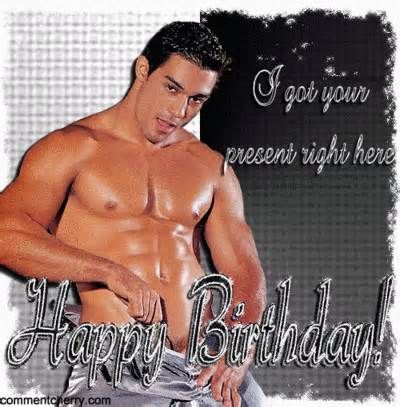Happy birthday from sexy men