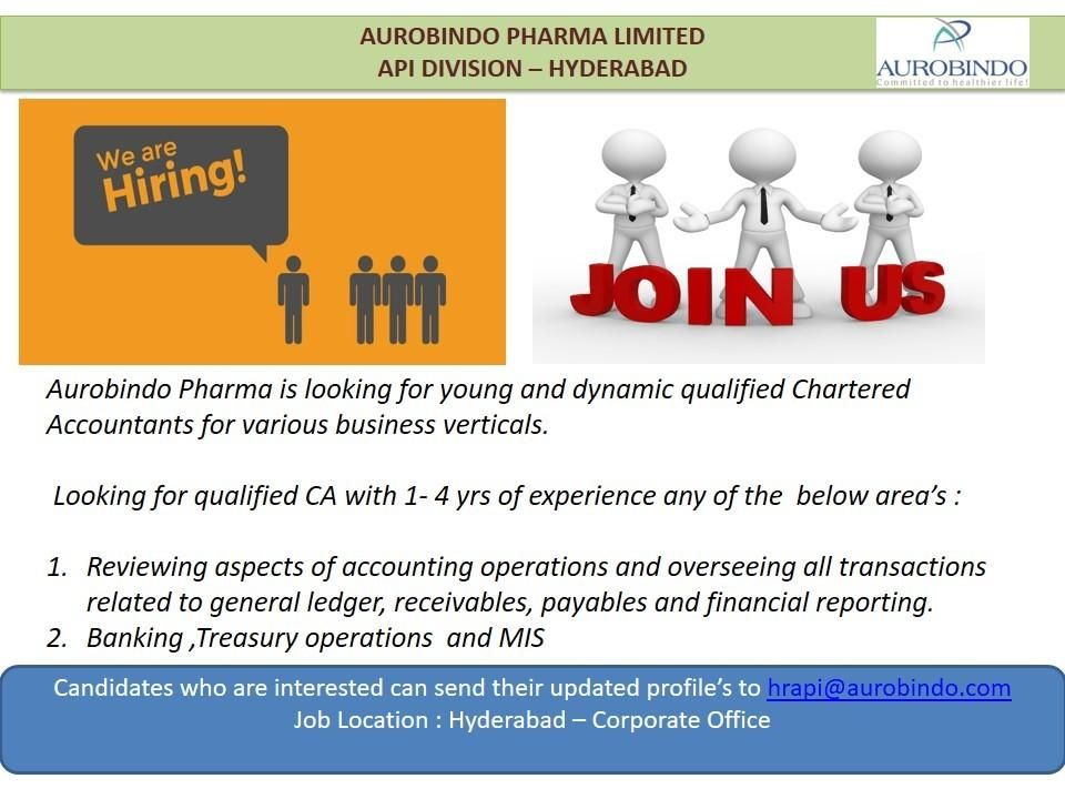 Chartered Accountant Job Openings Hyderabad In 2020 Accounting Jobs Job Opening Chartered Accountant