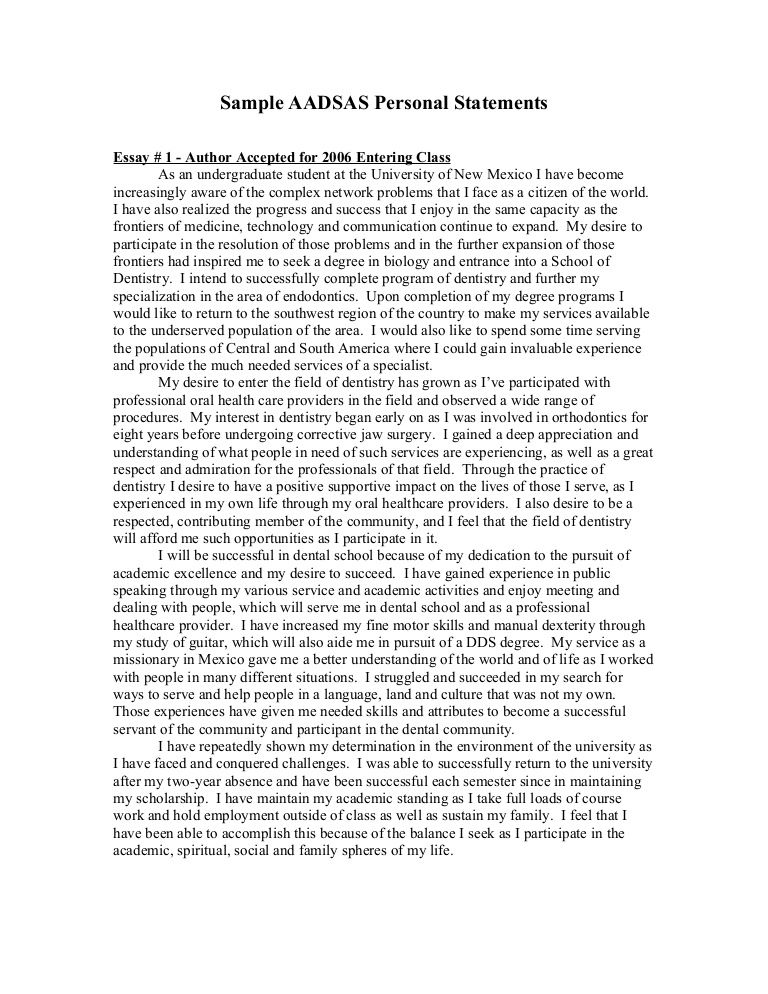 Personal Statement Example    wwwpersonalstatementsamplenet - opening statement for resume