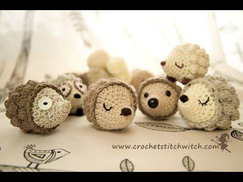 Patrón libre de ganchillo erizo | Crochet puntada de la bruja ...
