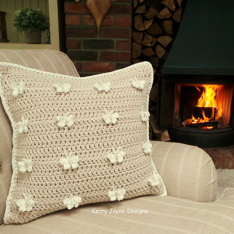 CROCHET PILLOW Pattern Butterfly pillow pattern Crochet Butterfly ...