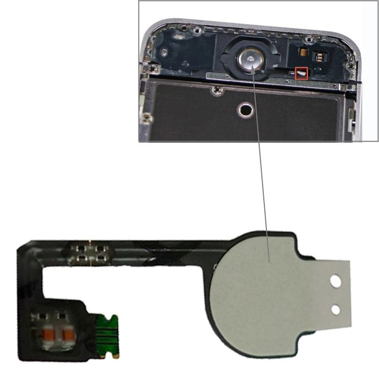 iPartsBuy Original Version Home Key Button PCB Membrane Flex Cable for iPhone 4