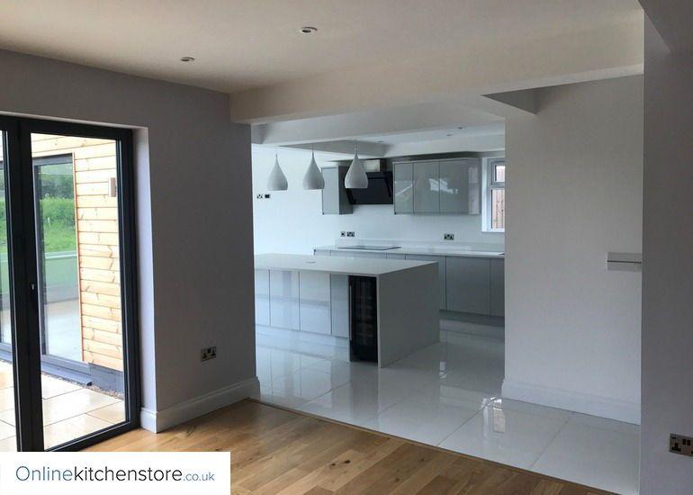 Best Remo Gloss Dove Grey Kitchen Grey Gloss Kitchen Online 400 x 300