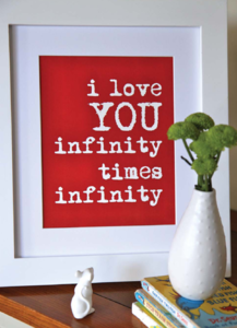 Infinity times infinity!