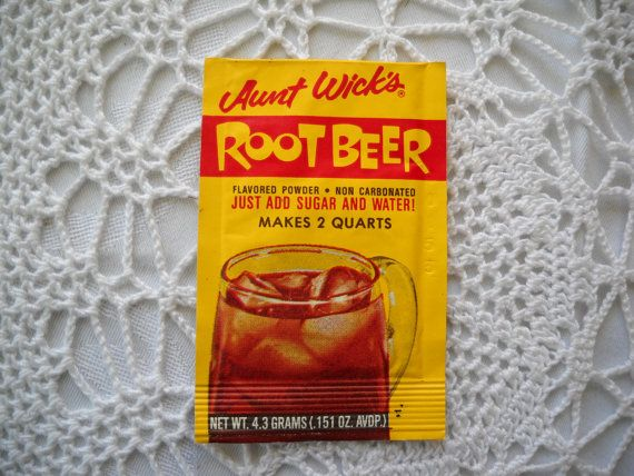 Powdered Root Beer Mix It Tasted So Strange With Out The Carbonation Root Beer Drinking Beer Kool Aid Packets