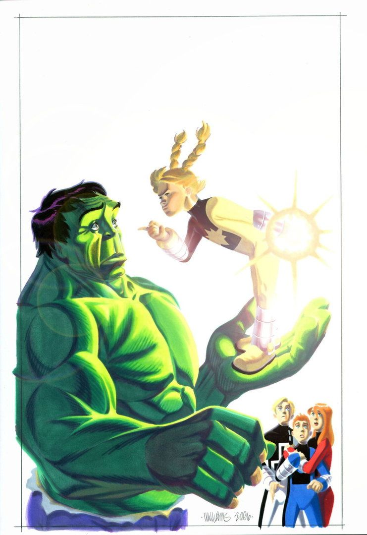 #Hulk #Fan #Art. (Hulk and PowerPack #2 Cover) By: BroHawk. (THE * 5 * STÅR * ÅWARD * OF: * AW YEAH, IT'S MAJOR ÅWESOMENESS!!!™)[THANK Ü 4 PINNING!!!<·><]<©>ÅÅÅ+(OB4E)