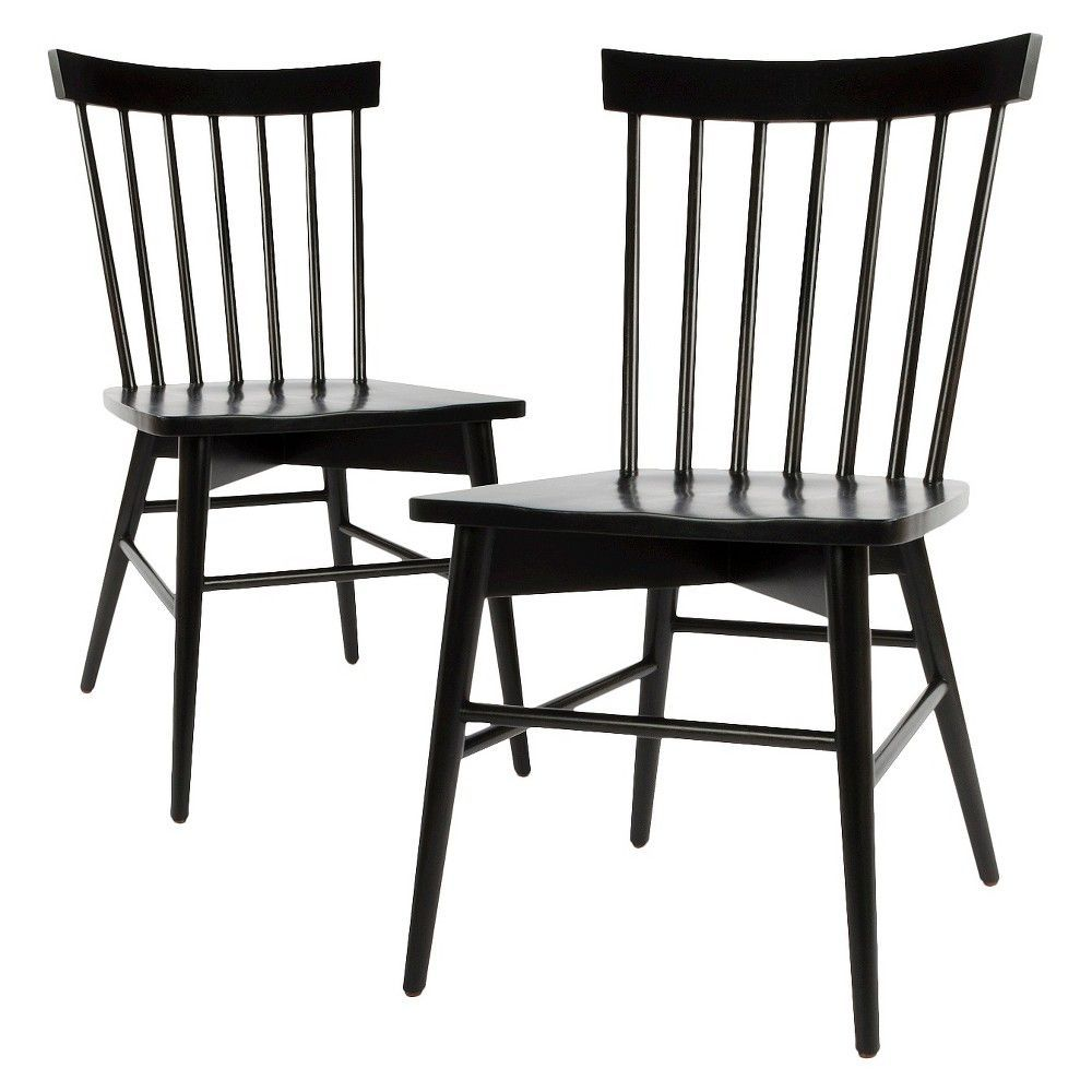 Set Of 2 Windsor Dining Chair Black Threshold With Images
