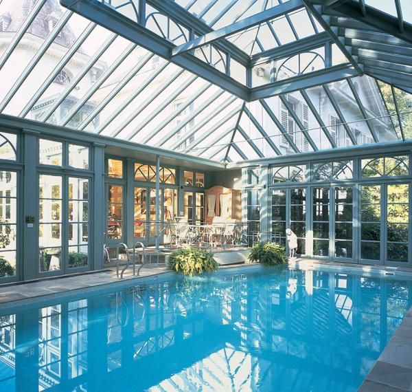This website has a stunning gallery of conservatories for Swimming pool greenhouse