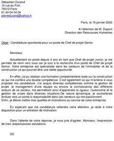 Exemple De Candidature Spontanee Modele Lettre De Motivation Candidature Spontanee Lettre De Motivation Professeur