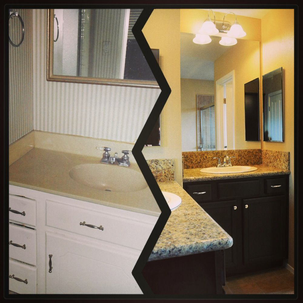 Before And After Of The Master Bathroom Using A K Renovation Loan - Bathroom renovation finance