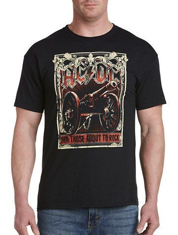 ACDC About to Rock Graphic Tee | Graphic tees, Mens tops