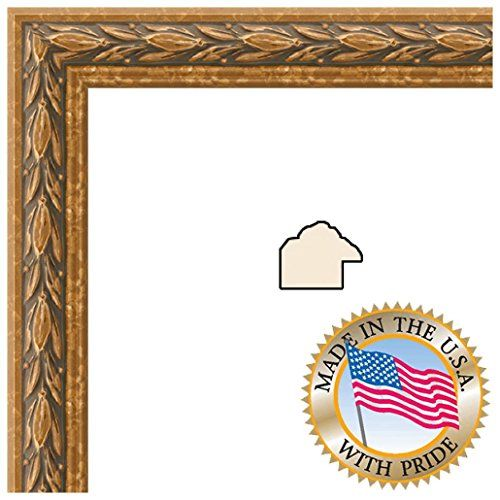 12x36 12 X 36 Picture Frame Antique Gold 1 Wide Arttoframes Http Www Amazon Com Dp B00mv05meq Wood Picture Frames Custom Picture Frame Picture Frames